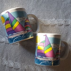 Sunny Sailboat Mugs ⛵